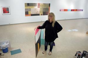Konstnären Marie Palmgren aktuell med utställning i Rättviks konsthall. Foto: Ulf Lundén