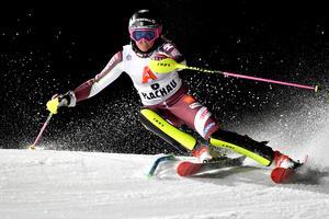 Frida Hansdotter slutade trea i Flachau.