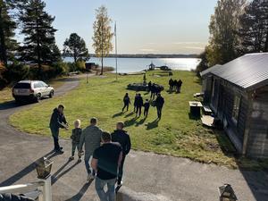 Helikopterturen startade från Kaj Anderssons gård på Maln.