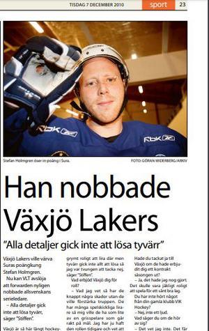 Från VLT 7 december 2010.