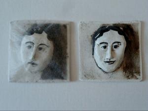 Ansikte av konstnären Margareta Hafstad.Foto: Sonja Moberg