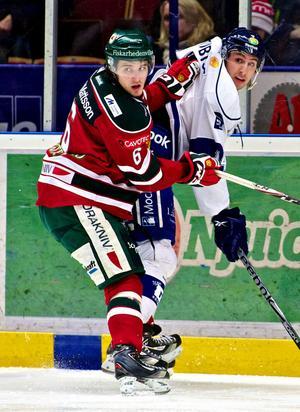 Morabacken Mikael Vikstrand (6) åker på torsdag över till Pittsburgh och den årliga draften.