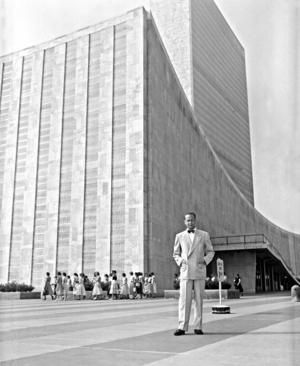 FN:s svenske generalsekreterare Dag Hammarskjöld kan beskrivas som en aktivistisk mystiker. Hans religiösa tänkande är en inspiration för Daniel Alm. Foto: UN/DPI