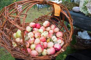 Ingen skördemarknad är väl komplett utan äpplen?