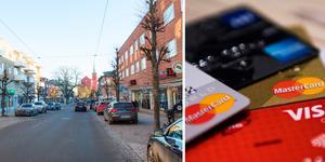 Flera butiker i Nynäshamn har råkat ut för kortbedragare. Foto: Carina Albin/Jon Olav Nesvold/TT