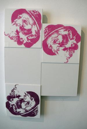 Lena Wennberg tolkar klassisk bild, serigrafi på plexiglas.