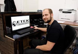 Den 15 januari öppnar Mattias Eriksson Etek Fordonsservice i Forsmo utanför Sollefteå.