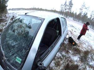 Jimmy Nordins fru, Lumia Nordin, skadade ena armen i kraschen och plåstrades om i Särna.  Foto: Jimmynordin.se