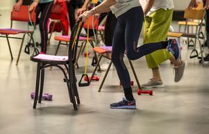 Friskis och svettis seniorträning finns i tre olika träningsformer, individuell träning i gymmet, cirkelgym och stol-styrka.