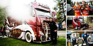 Populära Lastbilsträffen har öppnat i Ramsele och i vanlig ordning är det många tjusiga lastbilar och kända ansikten på plats. Självklart kan man äta gott också, kolbullar till exempel.
