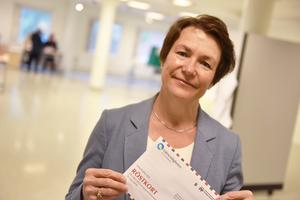 Birgitta Sacrédeus (KD) förtidsröstade under torsdagen.