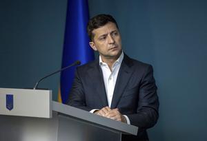 Ukrainas president Volodmyr Zelenskij  Foto: AP