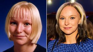 Till vänster: År 2001. Karolina Widar, en av Sveriges bästa innebandyspelare någonsin.Till höger: Karolina Widar 2014.