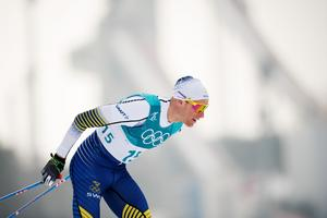 Daniel Rickardsson gjorde sitt sista OS-lopp i karriären när han gled in på en sjundeplats på femmilen efter att han varit snabbast av alla åkare  de sista två milen. Bild: Petter Arvidson/Bildbyrån