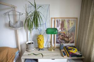 Sin lägenhet har Johanna Thofelt inrett med prylar som hon ärvt, hittat på auktioner, loppisar eller på Instagram.