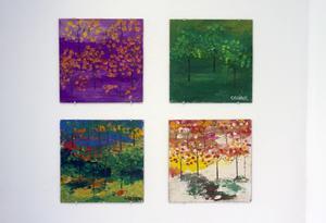Fyra av skogsmålningarna, som tagits med för att visa att allt ingalunda håller hög kvalitet i detta konstnärskap.