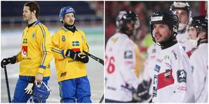 Hans Andersson i landslaget och i Edsbyn. FOTO: Rikard Bäckman/TT/Peter Axman