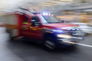 Räddningstjänsten ryckte ut till en butik i Björbo under torsdagsförmiddagen. Foto: Bertil Enevåg Ericson/TT