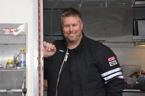 Henrik Brink, ordförande i Hudiksvalls motorklubb, vann Top doorslammer.