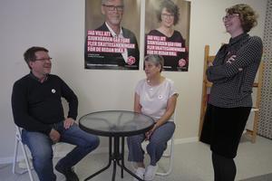 Socialdemokraterna Leif Pettersson, Åsa Bergkvist och Elin Norén lovar att landstingspatienter med början i oktober ska kunna ta prover på äldreboendet Säfsgården i Fredriksberg. Däremot är det inte aktuellt med politiskt initiativ för läkarbemanning i Grängesberg.