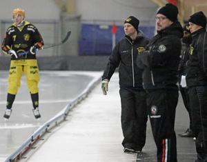 Åby/Tjuredas tränare Björn Einarsson fick glädjas åt två poäng på tisdagen.