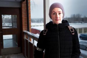 Erika Grahn bor i huset där det började att brinna under natten.