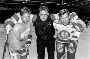 Dan Labraaten, Christer Abris, tränare, och Ivan Hansen, i Leksand. Foto: Bildbyrån.