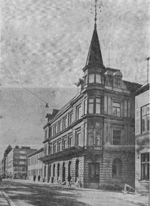 Huset som det såg ut i början av 1960-talet. Huset ritades av A.E. Melander.