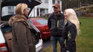 Linda Lindorff, Jimmy Olofsson och Evelina Åström . Foto: TV4/Bonde söker fru
