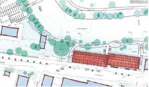 Svenska Studenthus vill bygga 180 studentlägenheter och samtidigt rusta upp en del av parkområdet.