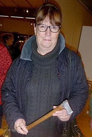 Raine Mickels hade tagit med sig en gammal vallyxa. FOTO: PRIVAT