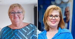 Socialnämndens ordförande i Södertälje, Rose-Marie Jacobsson (S) och hälso- och sjukvårdsregionrådet i Stockholm, Anna Starbrink (L).