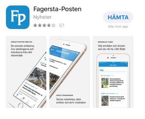 """Det går snabbt att ladda ned FP:s nyhetsapp. Du hittar den hos App Store eller Google Play. Sök på """"Fagersta-Posten""""."""