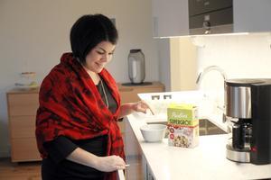 Oftast blir det gröt till frukost hemma för Malin Larsson. Men titt som tätt hamnar hon på frukostmöten av olika slag.