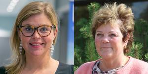 Therese Kärngard (S) och Lena Olsson (C) är två av de som skrivit under pressmeddelandet. De två andra är Bo Karlsson (C) och Daniel Arvastsson (S).