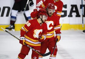 Mangiapane i Flameströjan. Foto: Jeff McIntosh/The Canadian Press