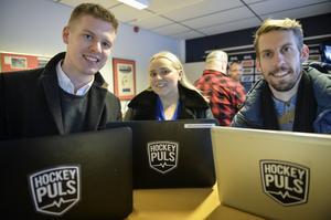 Hockeypuls reportrar Adam Johansson, Jennifer Engström och Eric Westlund är samtliga inblandade i SCA-cupen-sändningarna.