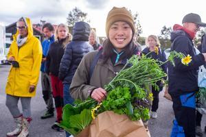 Det blev en hel del grönsaker för Rebecka Ragnarsson från Ljusnedal.