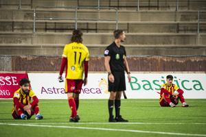 Syrianska tvingas spela division 1-fotboll nästa år. Foto: Jonathan Näckstrand / Bildbyrån