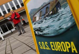 Protest. Mot EU:s flyktingpolitik.Foto: Mikael Johansson