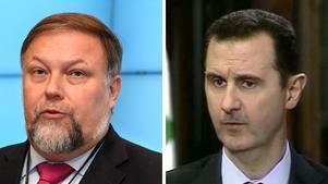 Mikael Jansson och Bashar al-Assad. Arkivfoto: TT