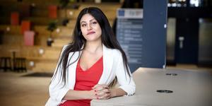 """Marie-Christine Samre är grundaren till nätverket Kvinnovation som anordnar eventet TechQueens på Södertälje science park den 21 september. """"Om kvinnornas idéer inte förverkligas kan vi inte göra Sverige konkurrenskraftigt"""", säger hon."""