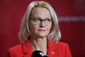 Tidigare migrationsminister Heléne Fritzon (S)  är Socialdemokraternas toppnamn till Europaparlamentsvalet.Foto: Henrik Montgomery / TT