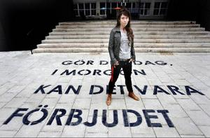 Anna Odells examensverk på Konstfack väckte en debatt som synliggjorde vitt skilda uppfattningar om vad som konst och inte.Foto: Tomas Oneborg/Svd/Scanpix