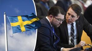 Jimmie Åkesson och Richard Jomshof kan säga vad de vill – långt ifrån allt är elände i Sverige i dag, menar Stefan Aronson och Rolf Nordin. Bilder: Fredrik Sandberg/TT / Vilhelm Stokstad/TT