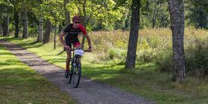 Nordiske mästaren Andreas Ringvall hade inga större problem att cykla hem Svarta Maran.
