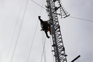 Ibland måste man ta en paus i klättrandet och sträcka ut armarna.