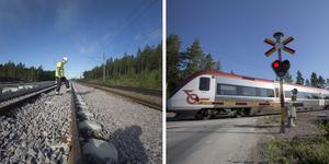 Villersmuren väster om Sandviken är en järnvägssträcka som genomgår ett banarbete för att höja säkerheten.