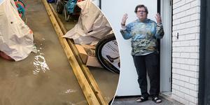 Man blir less för ingen är beredd att ta ansvar, säger Ann Charlott Nörgaard Nilsson efter att hennes hus översvämmades av regnvatten. Det skedde efter asfalt arbetena utanför fastigheten.