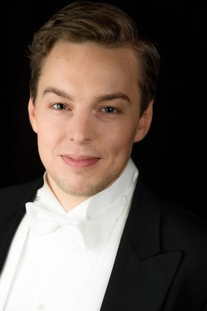 Erik Rosenius, bas från Stockholm och utbildad vid Kungliga Musikhögskolan och Operahögskolan i Stockholm, var den ende manlige sångaren i finalen. Han slutade på andra plats. Bild: Martin Hellström